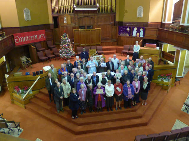 The congregation celebrating lottery stage 1 funding.